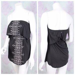 Billabong Boho Strapless Swim Cover Up Dress